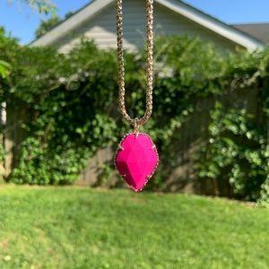 NWOT Kendra Scott 14k Gold Corla Necklace Pink